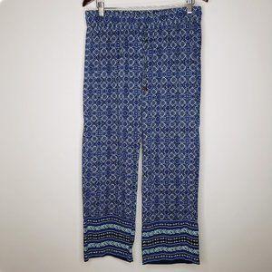 Anne Carson Stretch Waist Diamond Pattern Pants L